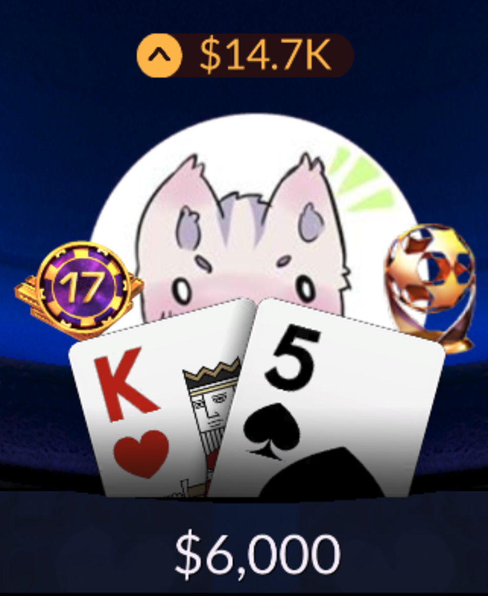 Even a weak hand like K5 is a good all in very late game. You can't wait forever to go all in!