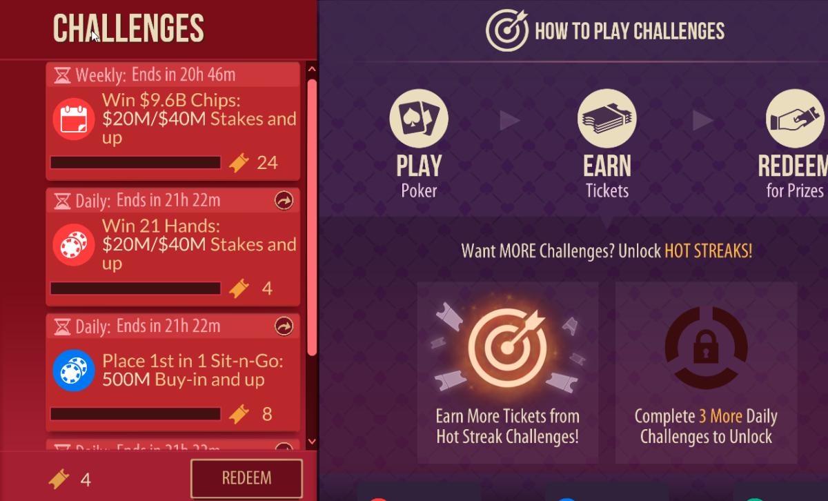 """""""Zynga Poker"""" Challenges"""