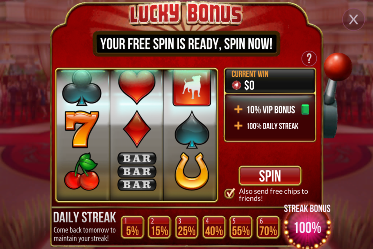 "The ""Zynga Poker"" Lucky Bonus Slot Machine."