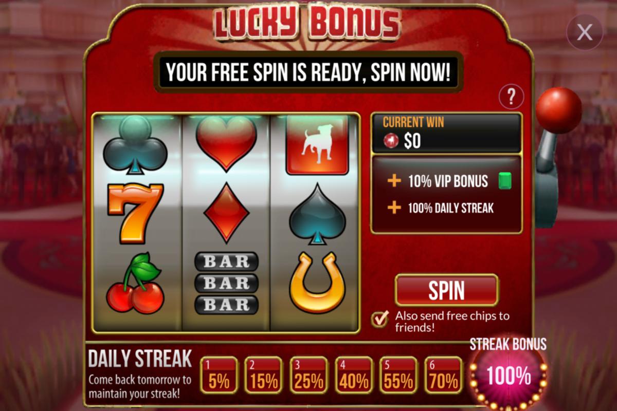"""The """"Zynga Poker"""" Lucky Bonus Slot Machine."""