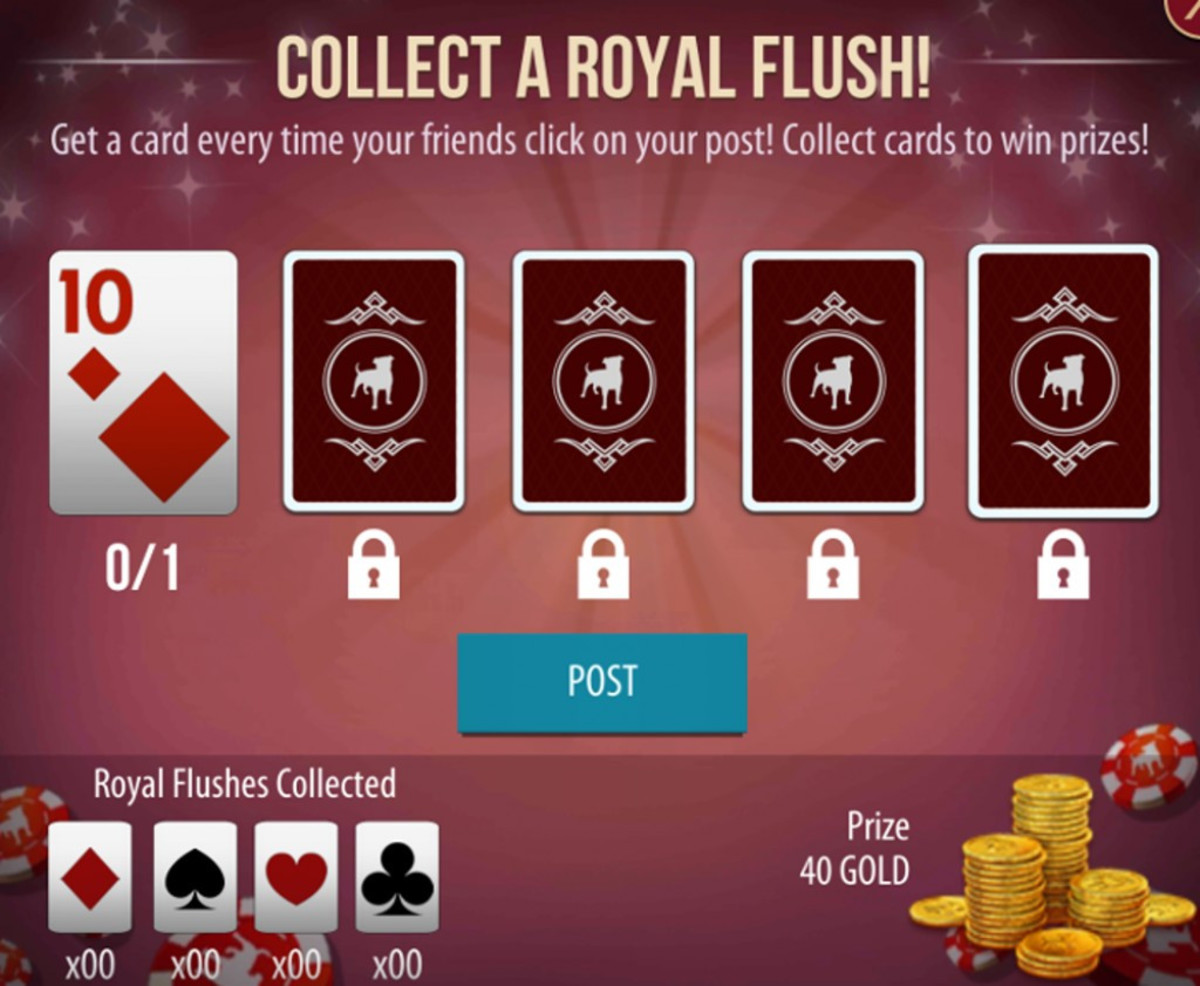 You get extra gold from completing Royal Flush hands.