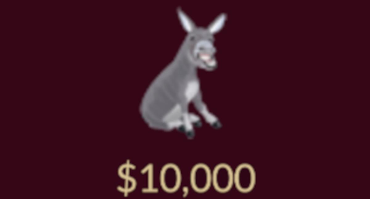 The donkey item.