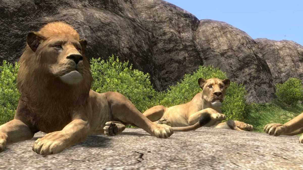 Scene from the non-violent game African safari game, Afrika