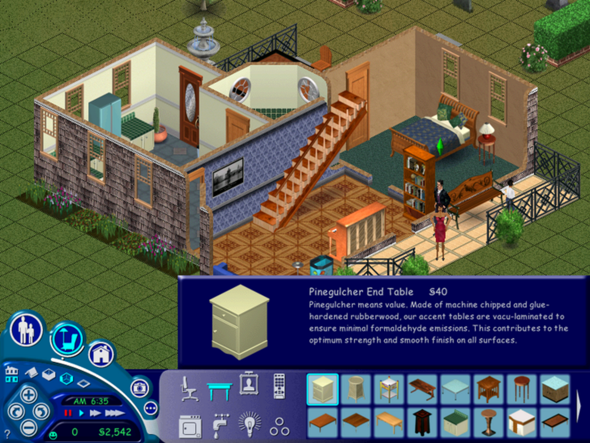 """""""The Sims 1"""" being played in native (800x600) resolution."""