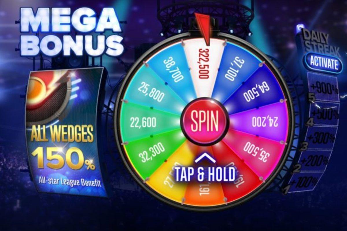 "The ""Poker Heat"" Mega Bonus Wheel."