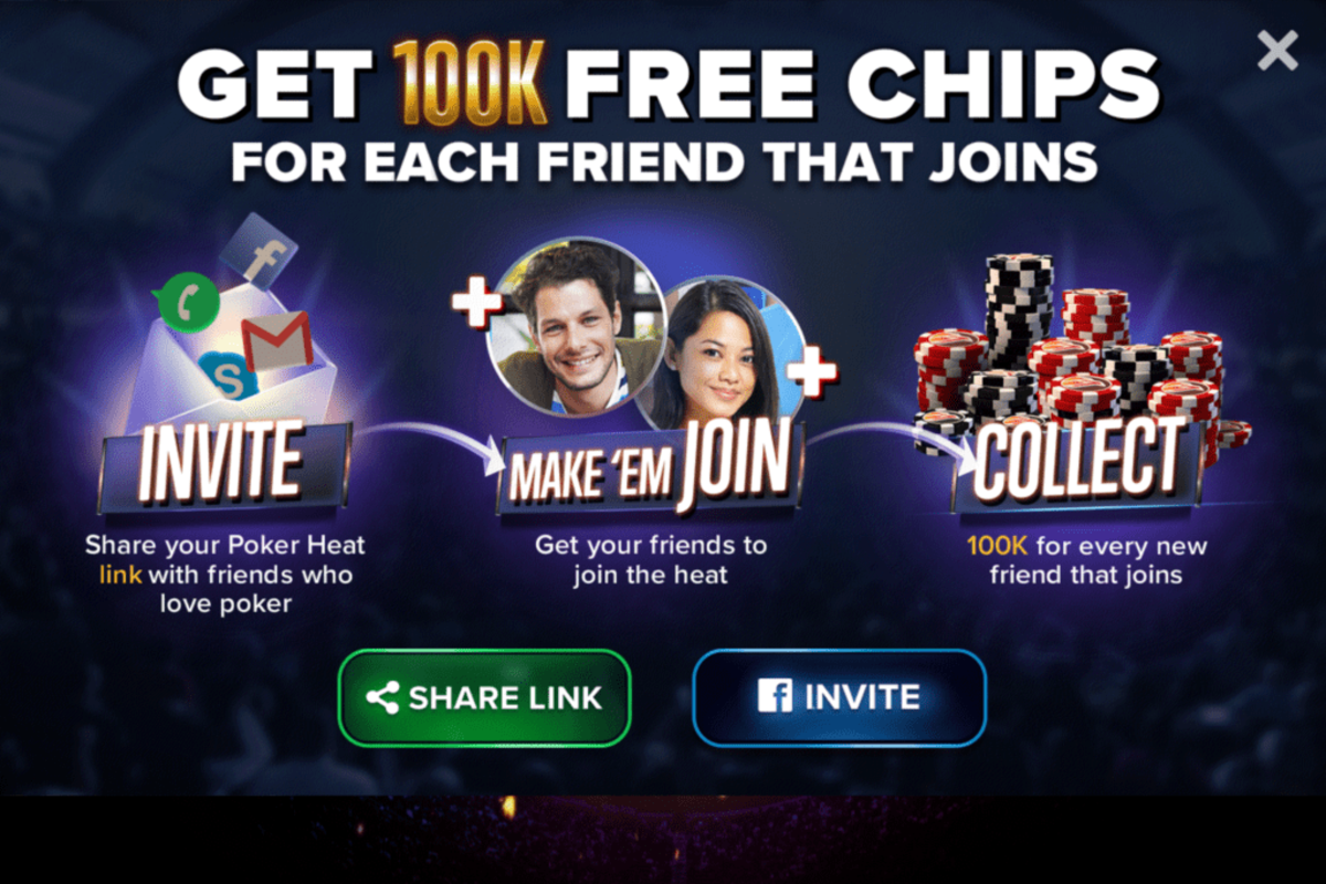 You can invite friends for more chips.