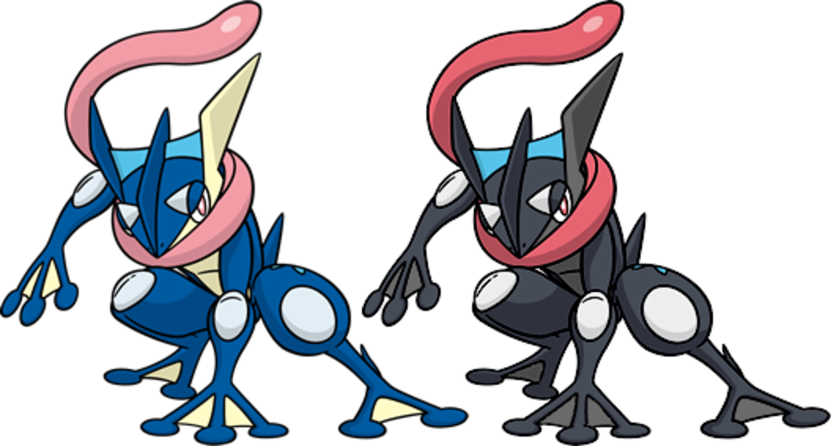 Regular VS Shiny Greninja by KrocF4 on DeviantArt
