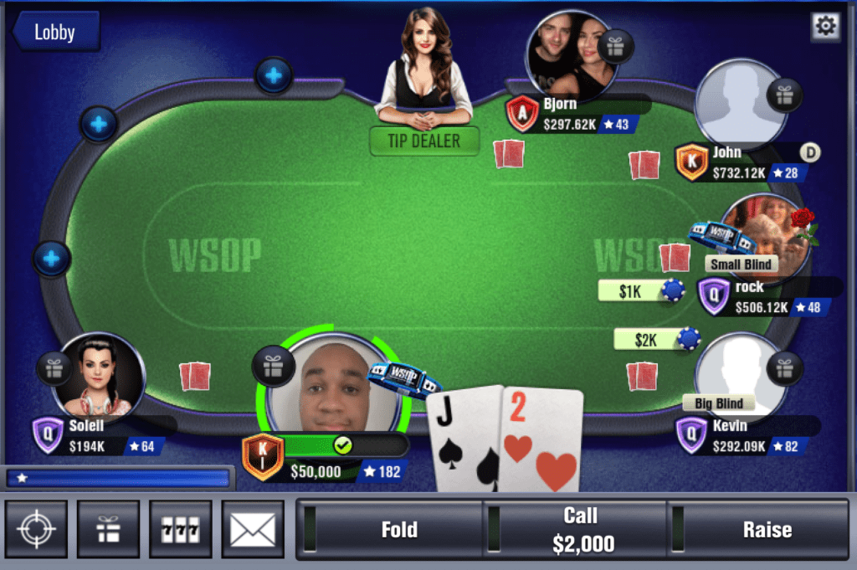 "A ""WSOP"" table."