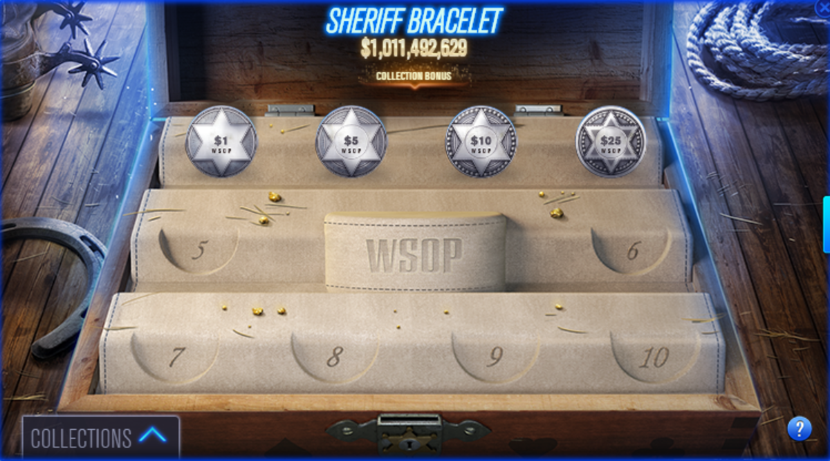 "This is the Sherif bracelet collection in ""WSOP""."