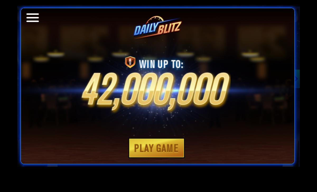 "The ""WSOP"" Daily Blitz start screen."