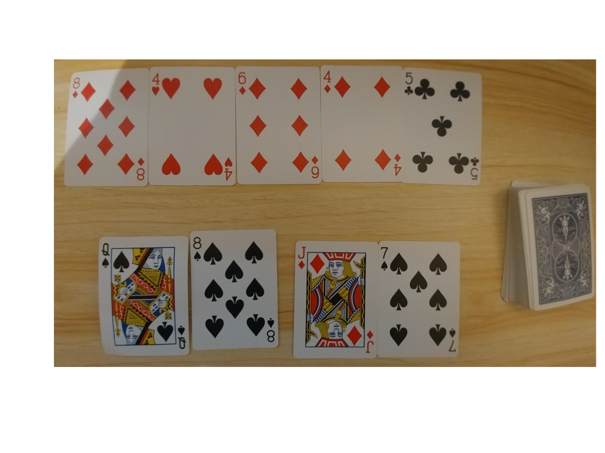 """I am playing Daily Bltiz with an actual deck of cards. This is good practice to prepare you to paly the miningame in """"WSOP""""."""