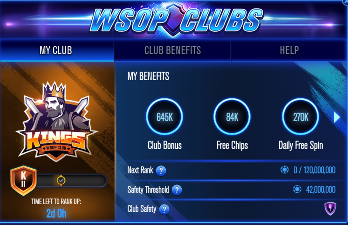 "This is my personal ""WSOP"" clubs stats."