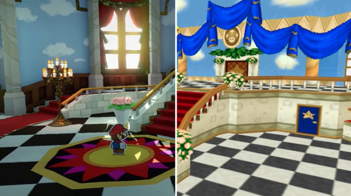 """Paper Mario: The Origami King"" vs ""Paper Mario N64"""