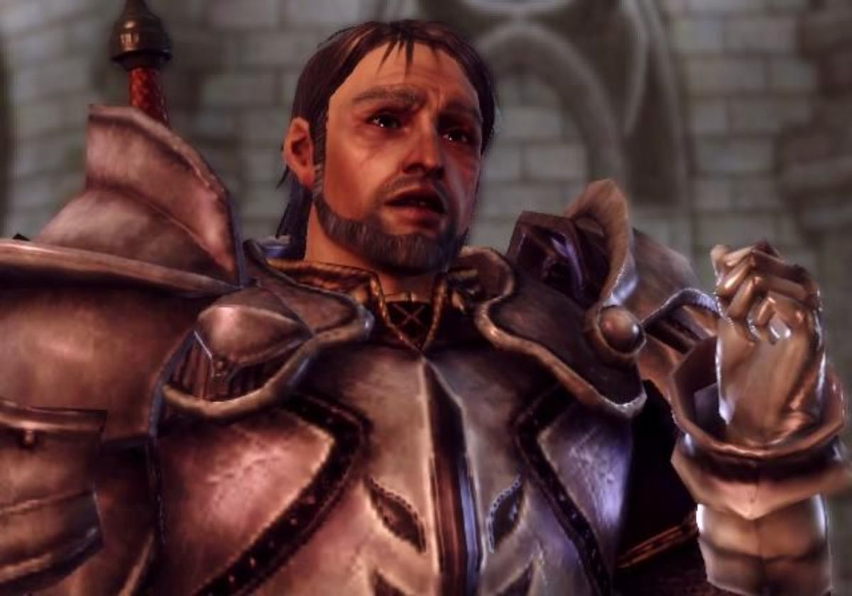 Knight Commander Greagoir as he appears in the game.