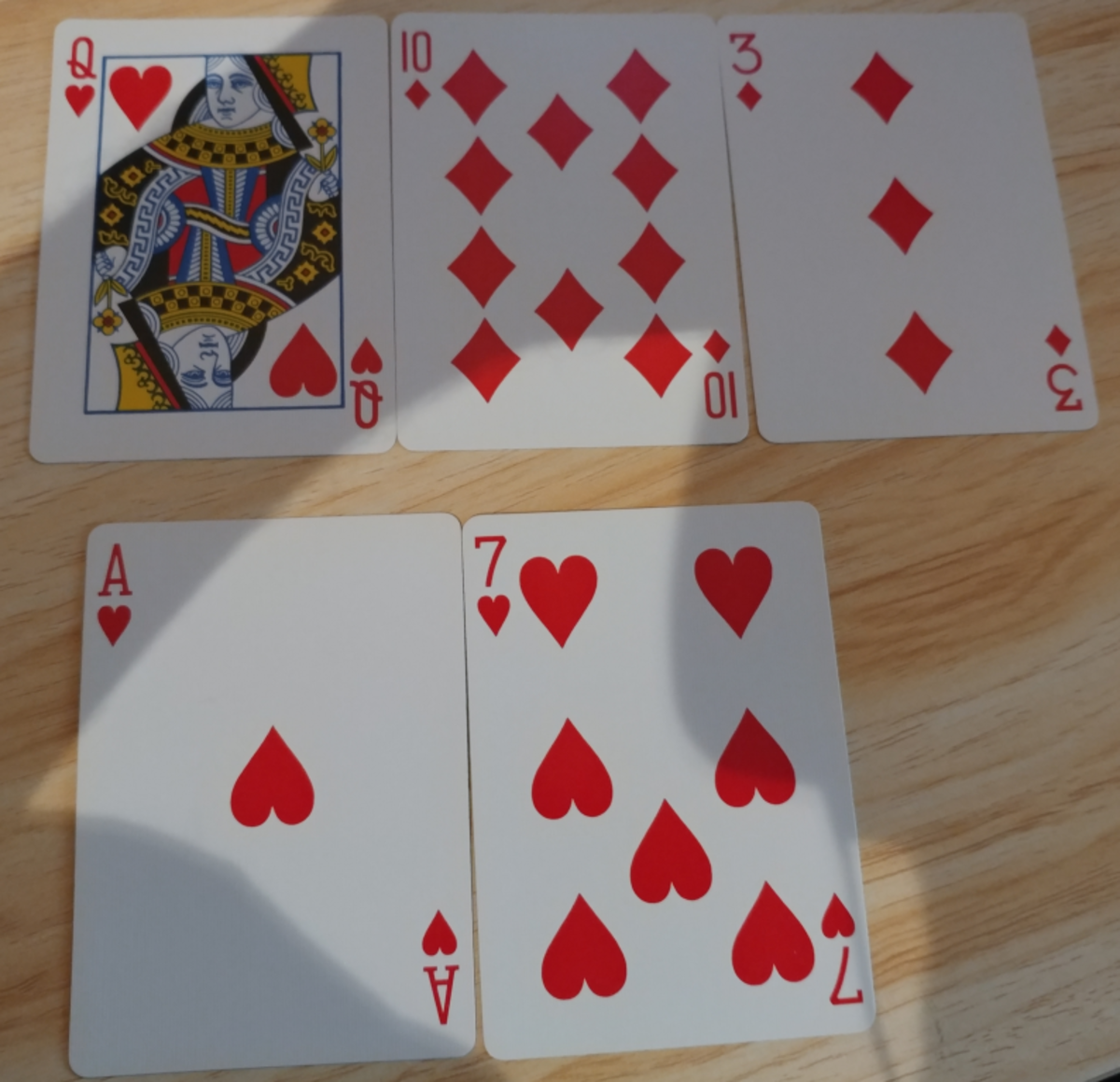 I need two cards to make a flush.