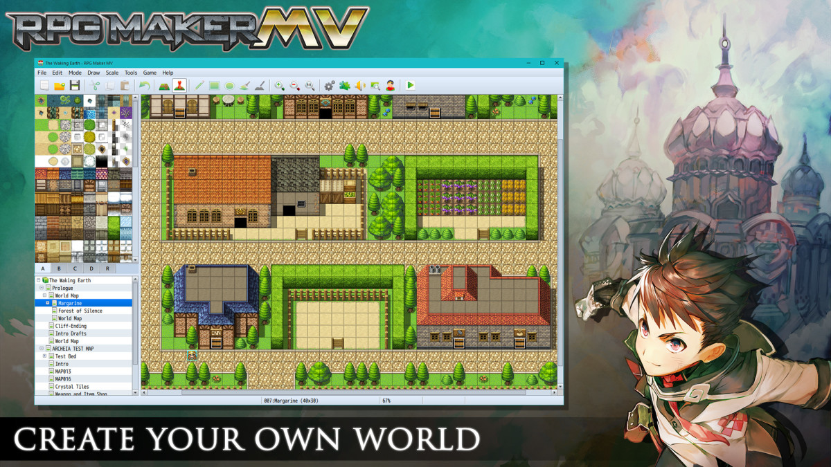 RPG Maker is extremely user friendly, with little experience necessary.