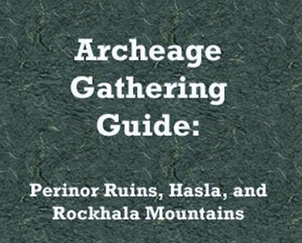 """""""Archeage"""": A Gathering Guide for Perinoor Ruins, Hasla, and Rokhala Mountains"""