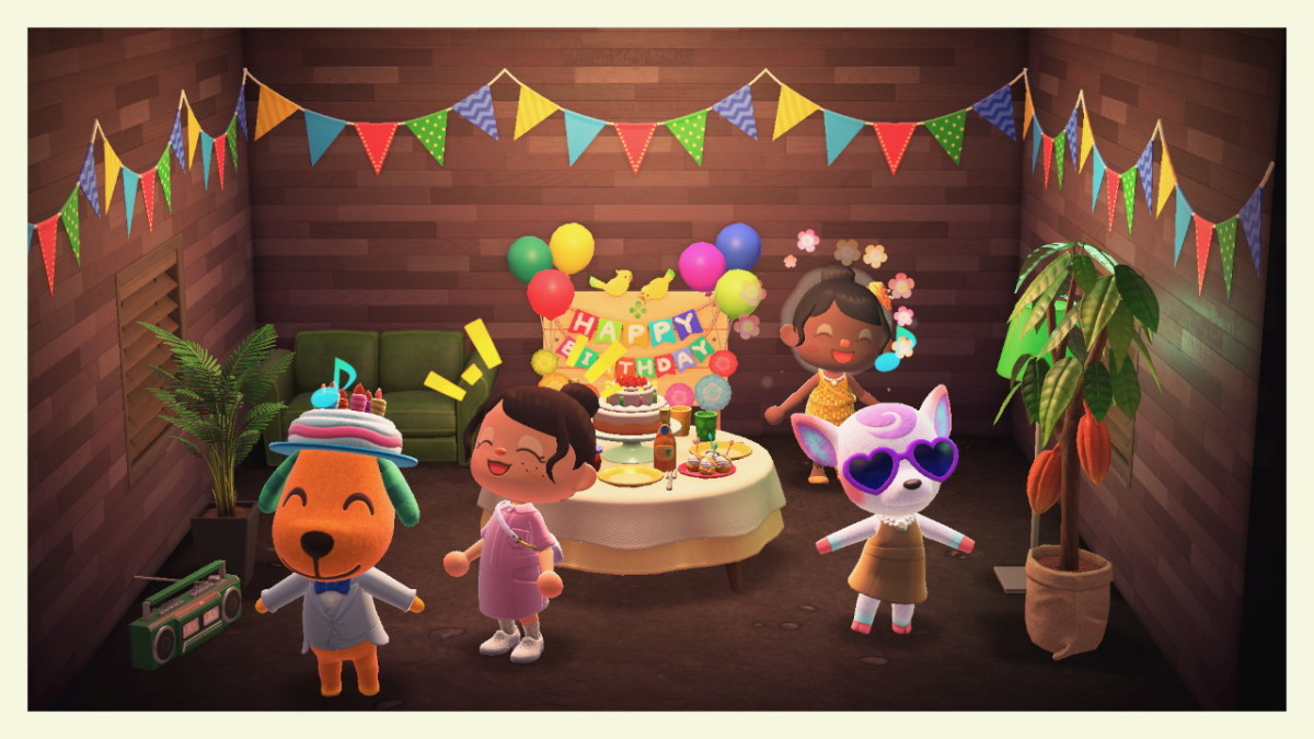 My friend and I having a blast at Biskit's birthday party!