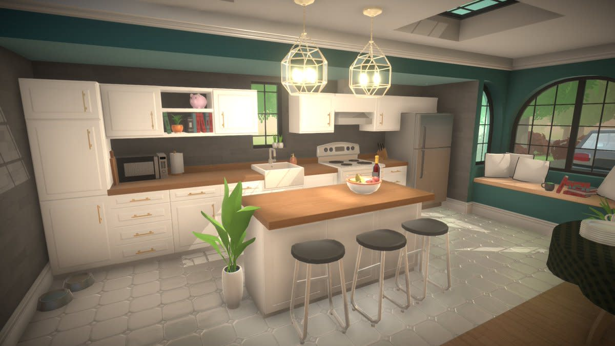 "A gorgeous, modern kitchen in ""Paralives"""