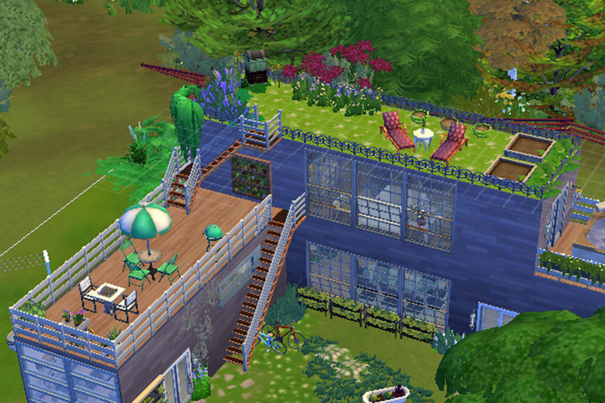 Grow fruits and veggies, decorate and let your Sims relax and enjoy their rooftop garden.