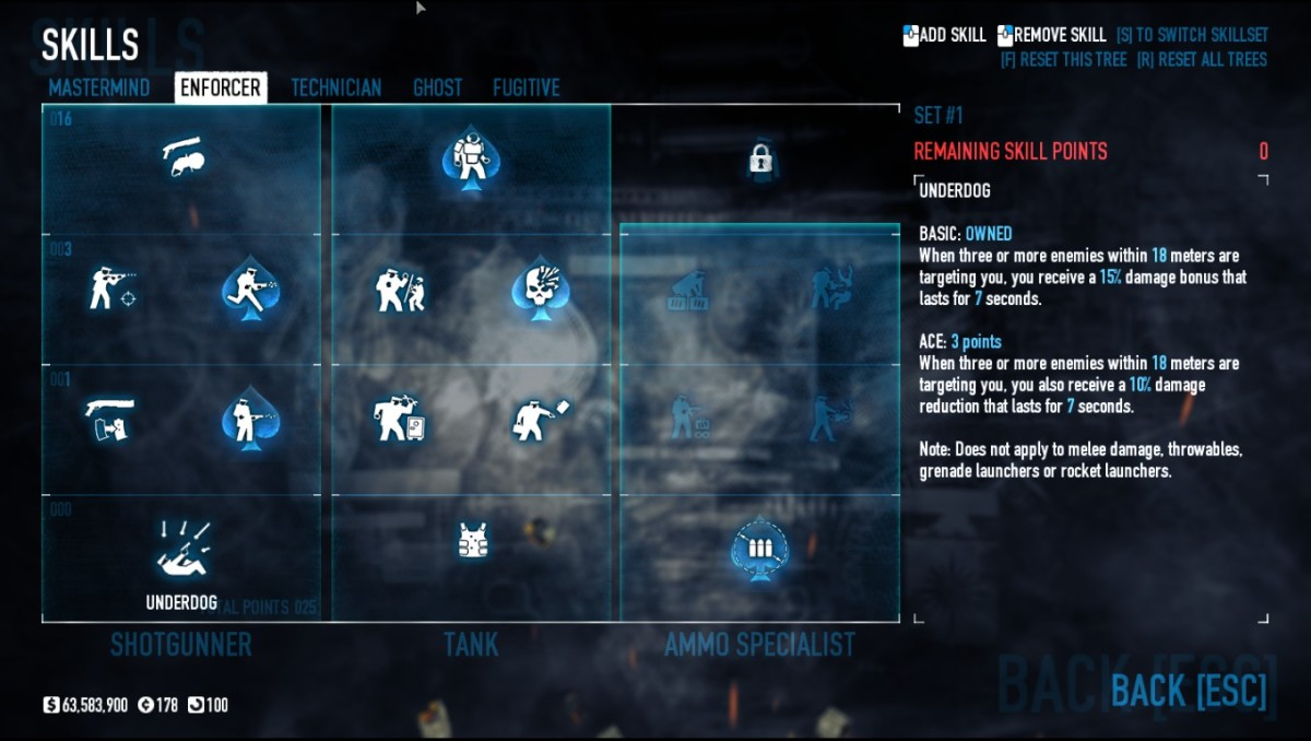 Enforcer is my favorite skill tree!