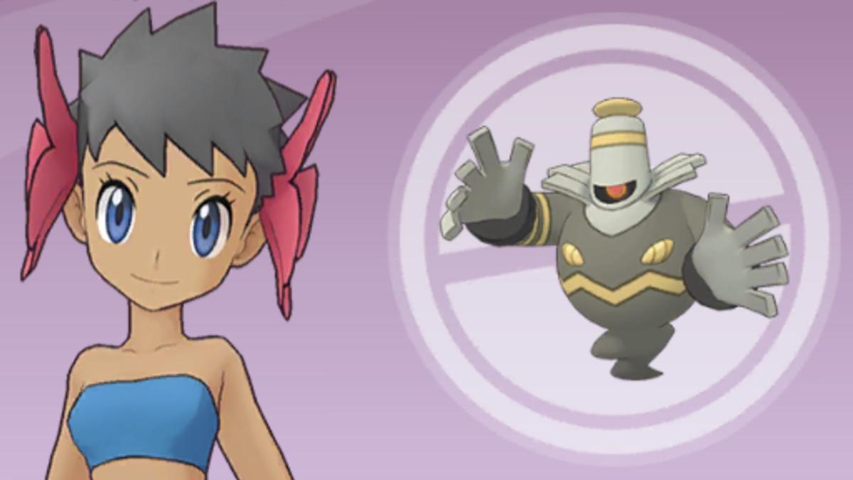 "Phoebe and Dusknoir in ""Pokémon Masters"""