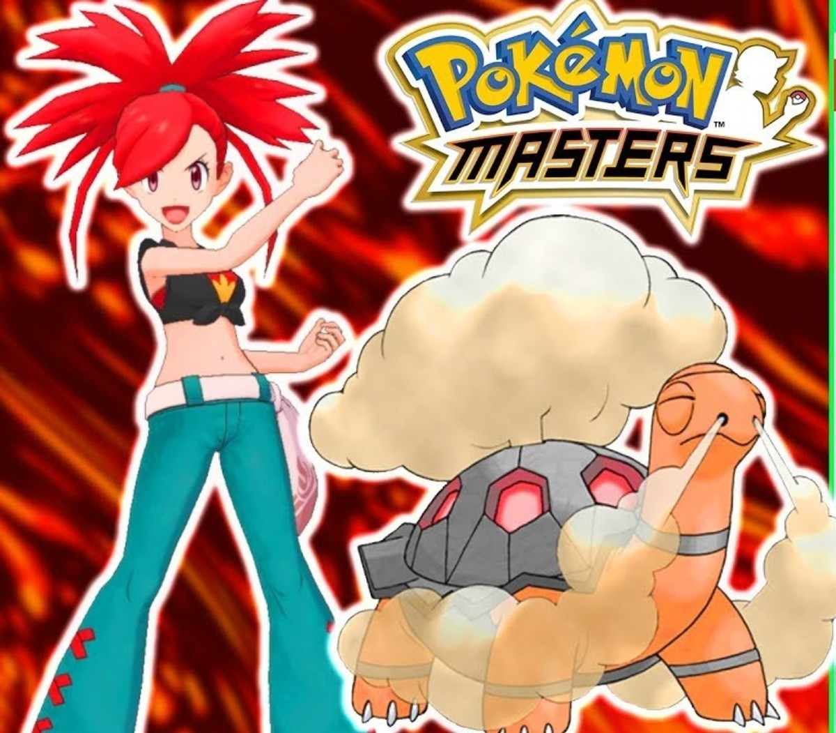 """Flannery and Torkoal in """"Pokémon Masters"""""""