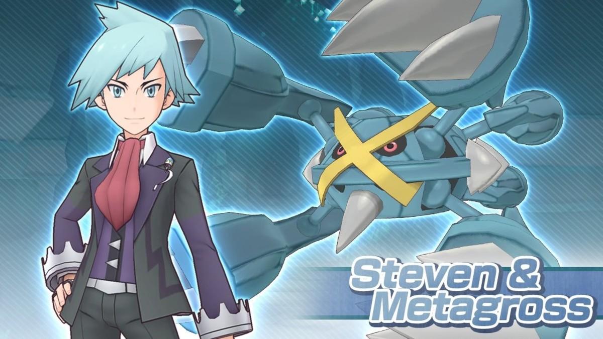 """Steven and Mega Metagross in """"Pokémon Masters"""""""