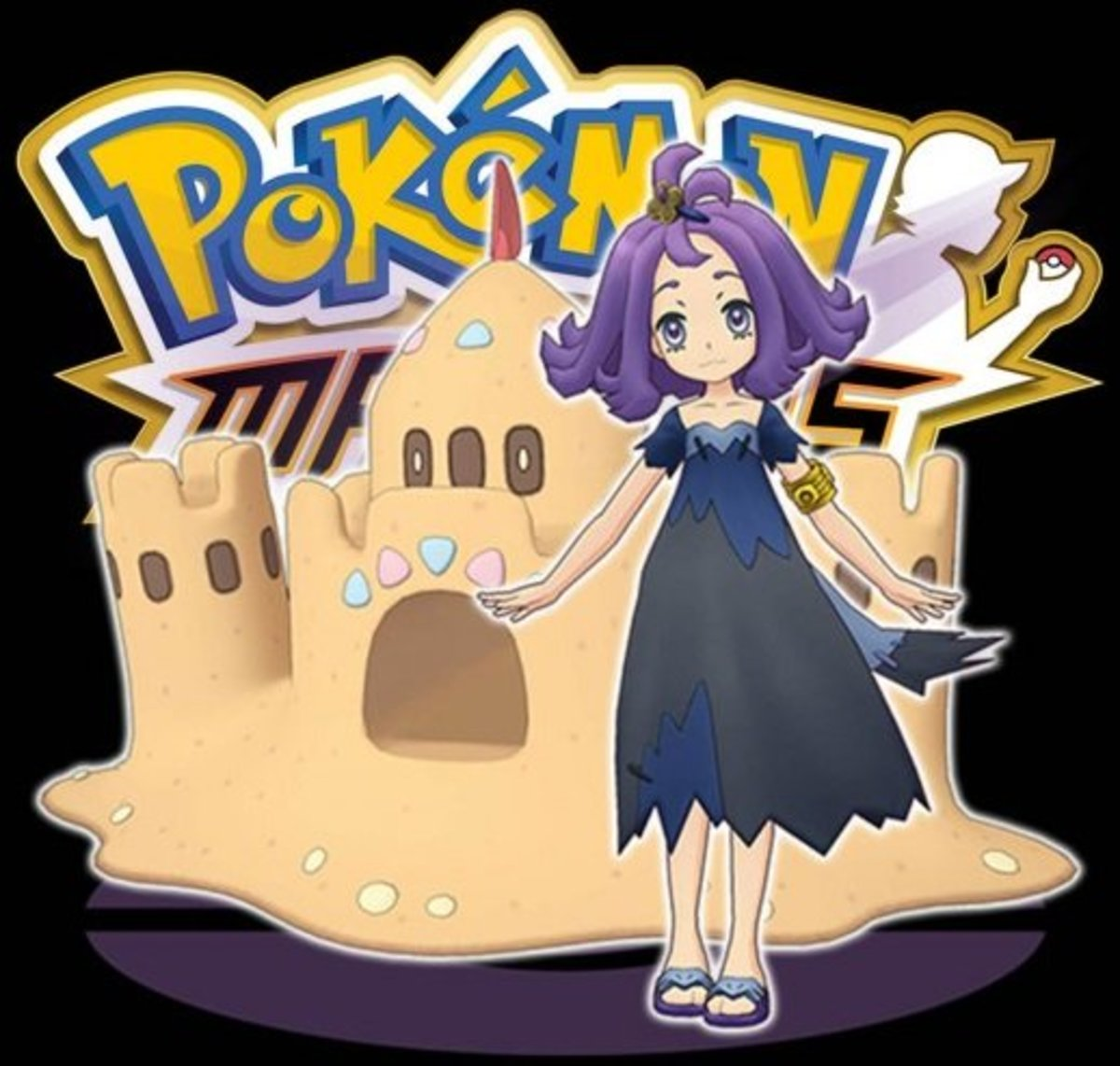 """Acerola and Palossand in """"Pokémon Masters"""""""