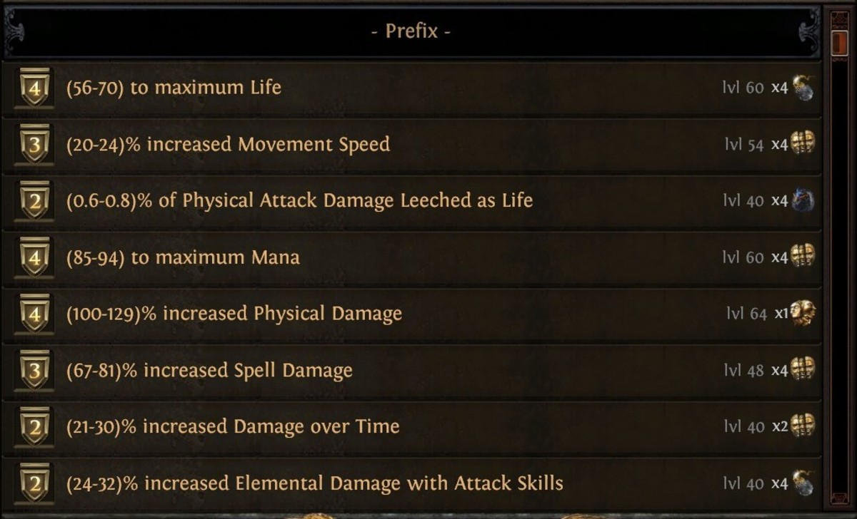 This is just some of the basic crafting available.