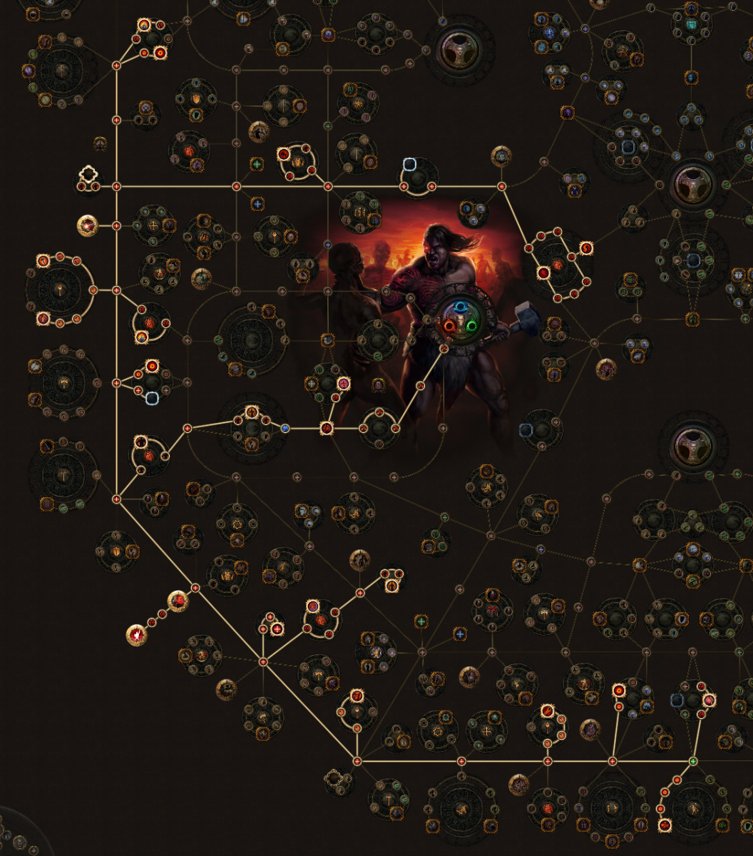 The passive skill tree is so massive, I can only show part of it!