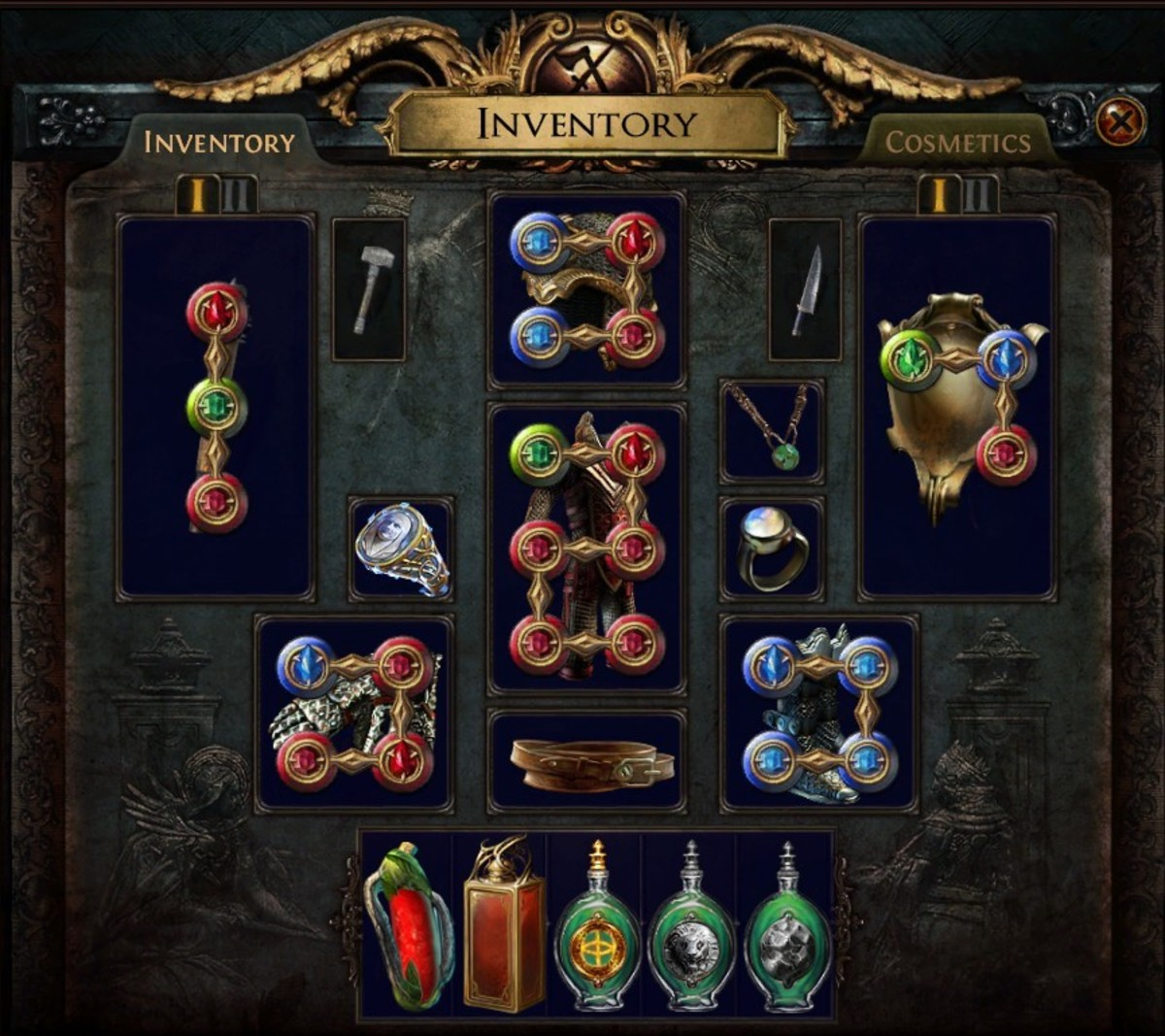 """For the most part, this is the optimal socket setup on gear in """"Path of Exile""""."""