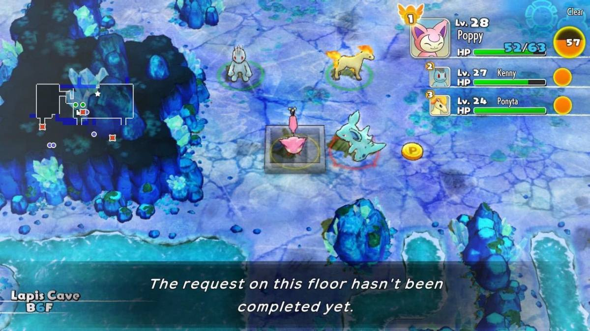 The game will remind you if you havan't completed a job on that floor yet.