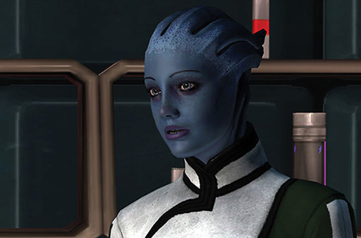 "Liara in the first ""Mass Effect."""
