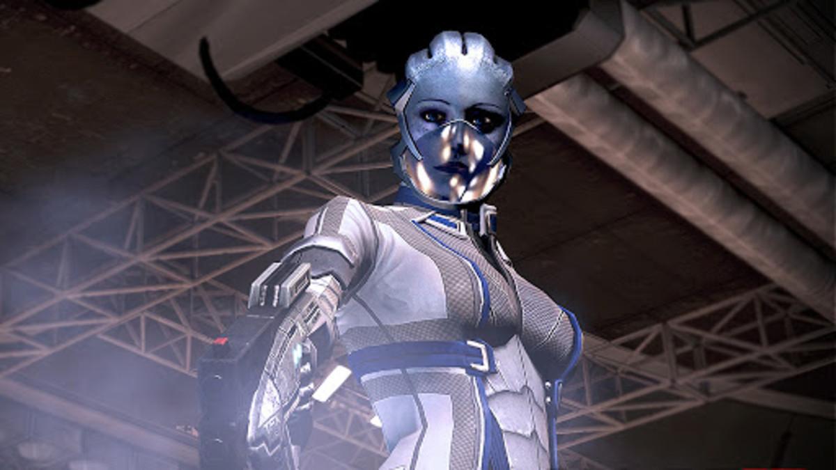 "Liara killing Cerberus agents in ""Mass Effect 3."""