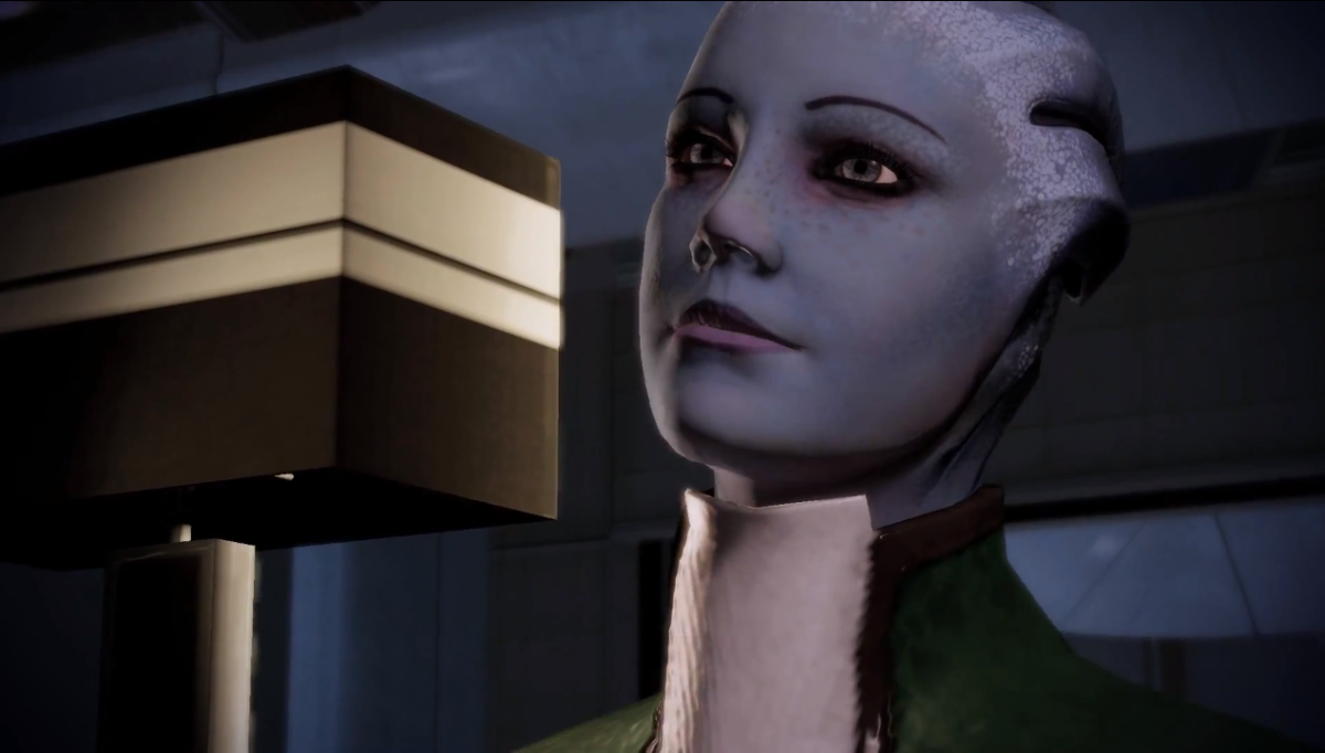"Liara as she appeared in ""Mass Effect 2."""