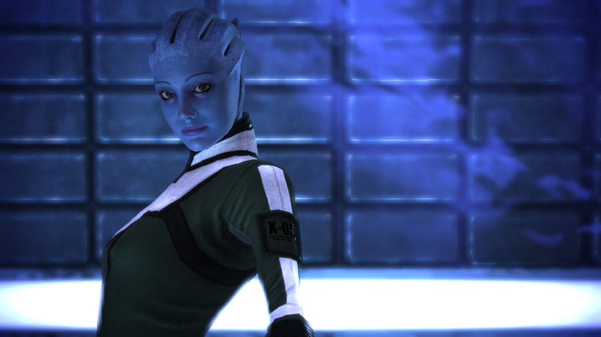 Another shot of Liara in her bubble.