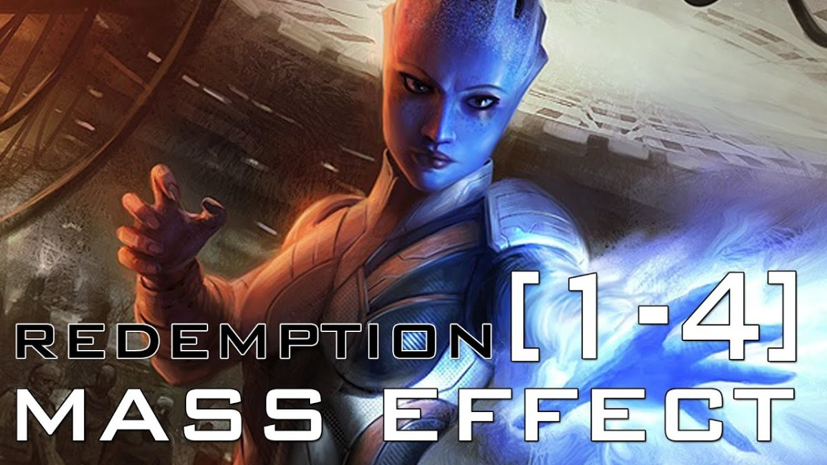 "Liara on the cover of ""Redemption."""