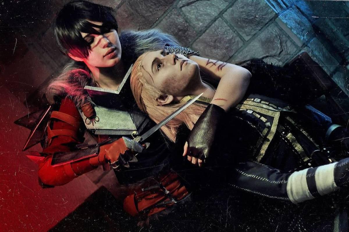 Hawke kills Anders cosplay.