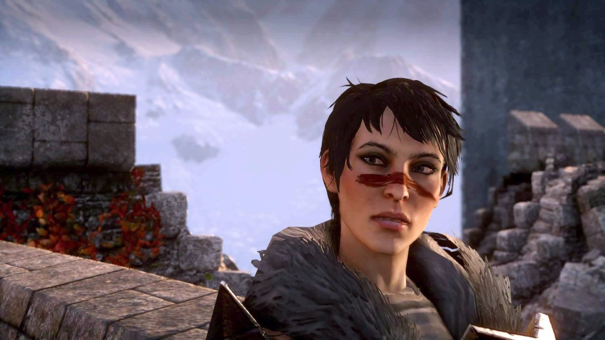 """Hawke as she appeared in """"Dragon Age: Inquisition."""""""