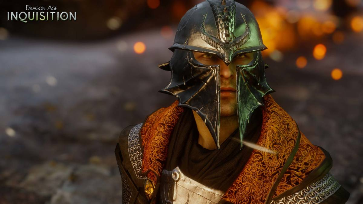 """The Inquisitor appearing in promotional material for """"Dragon Age: Inquisition."""""""