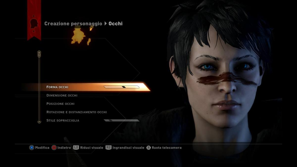"""The beautiful default Hawke as she appeared in """"Dragon Age: Inquisition."""""""