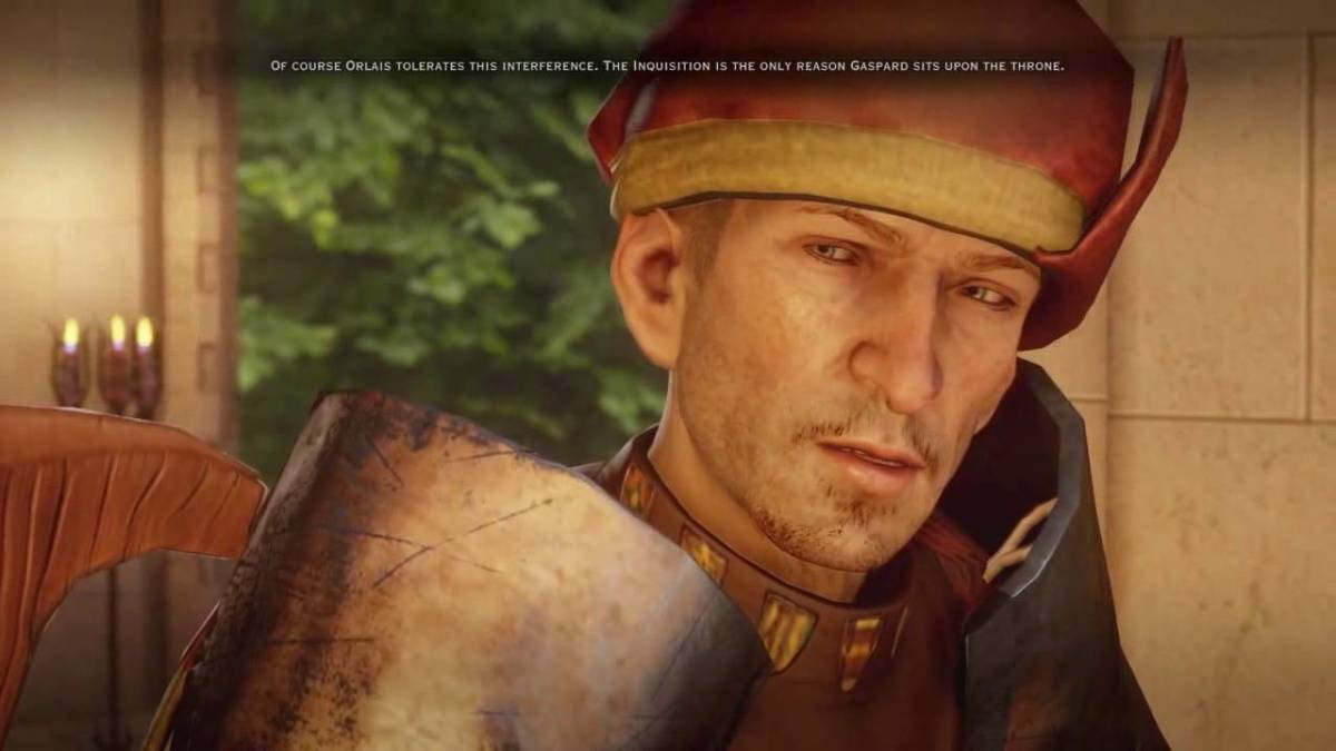 """Teagan as he appeared in """"Inquistion's"""" DLC Trespasser."""