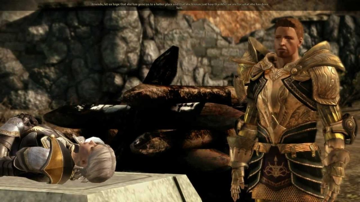 Alistair speaks at the Warden's funeral.
