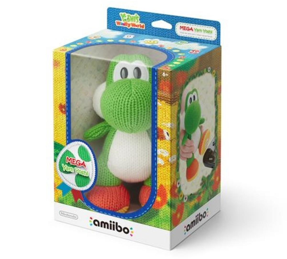 Yarn Yoshi - Mega Green Amiibo