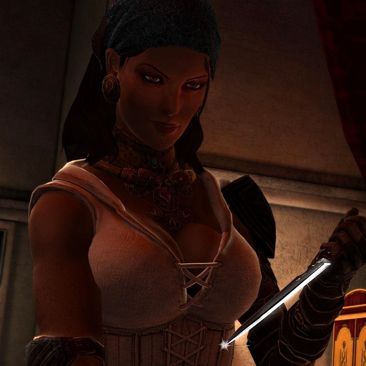 "Isabela sleeps with Hawke in ""Dragon Age 2."""
