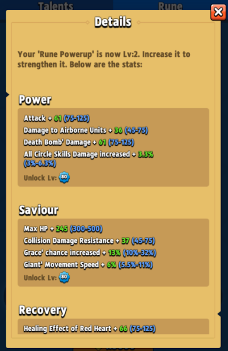 Runes buff a wide range of things, basic stat percentage or numbers, abilities, chance to obtain an ability, or even new enhancements entirely!