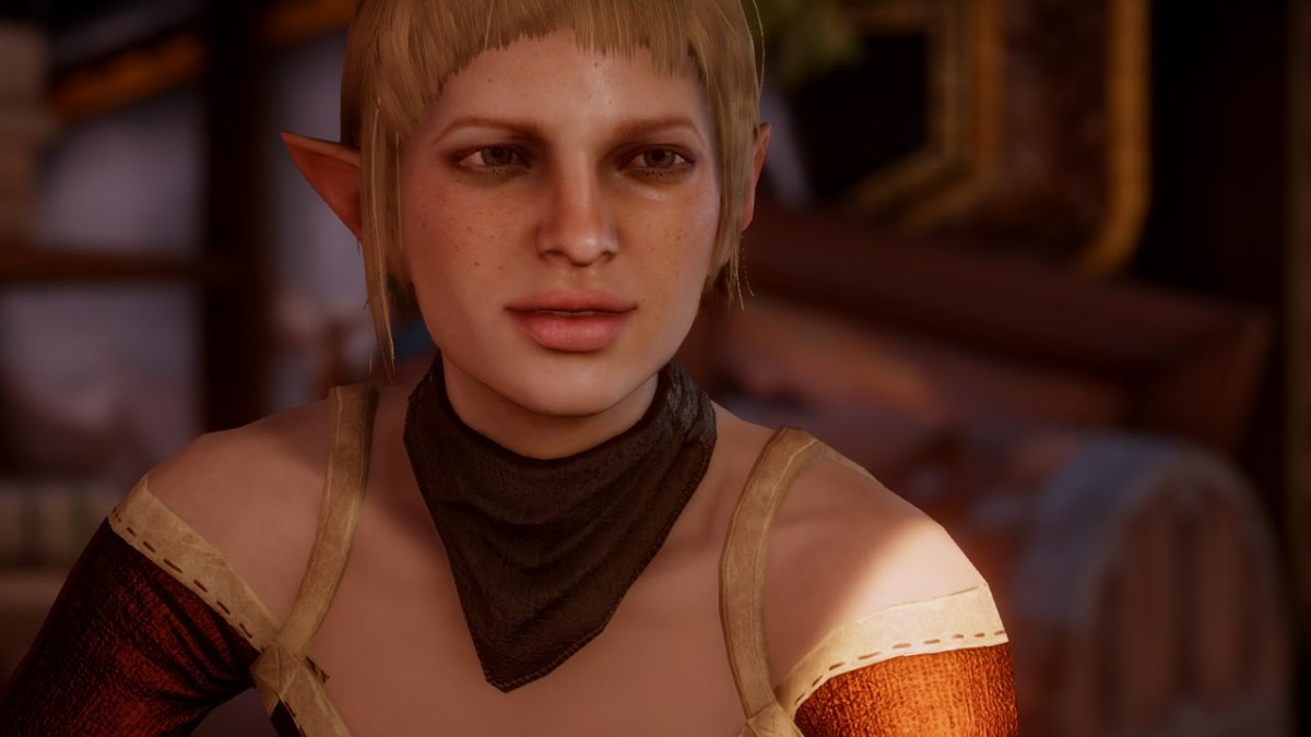 "Sera in ""Inquisition,"" the first lesbian follower."