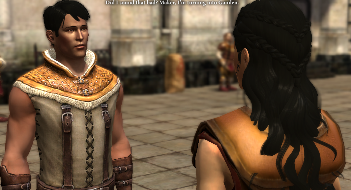 Carver complains to my Hawke.