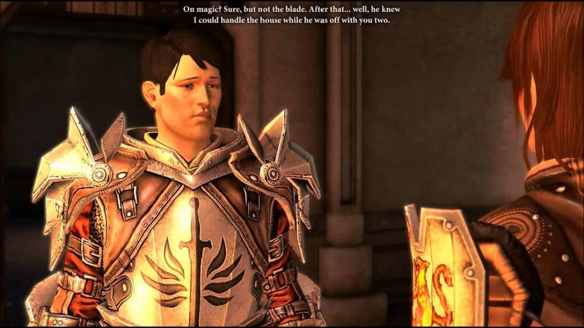 Templar Carver talks with Hawke in Legacy.